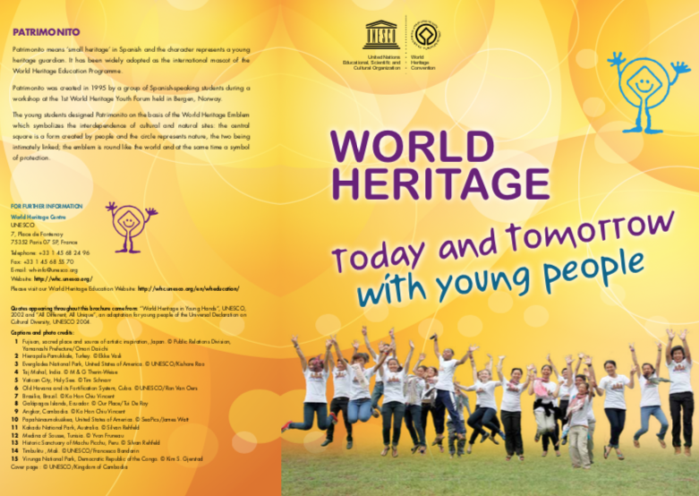 World Heritage, Today and Tomorrow, With Young People – ENG/ITA/FRA/SPA