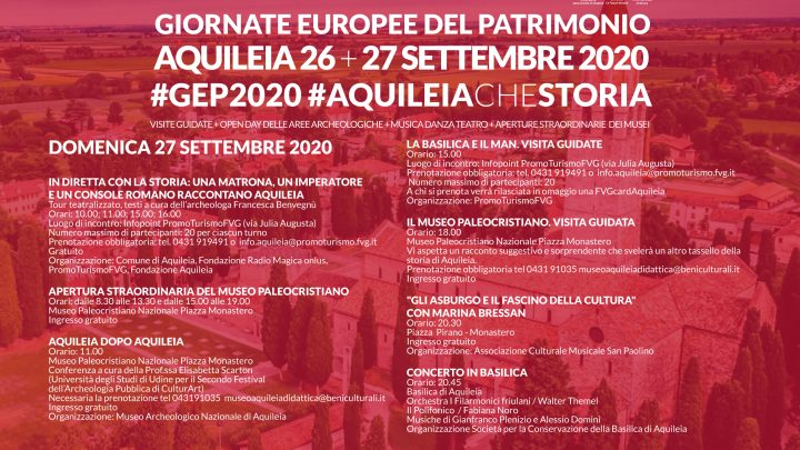Aquileia: open days per le GEP 2020